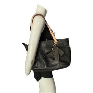Michael Michael Kors Black Pebble Leather Purse